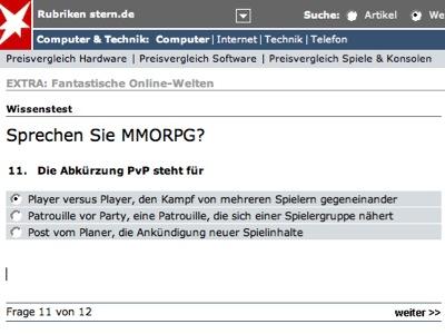 Screenschot Stern.de