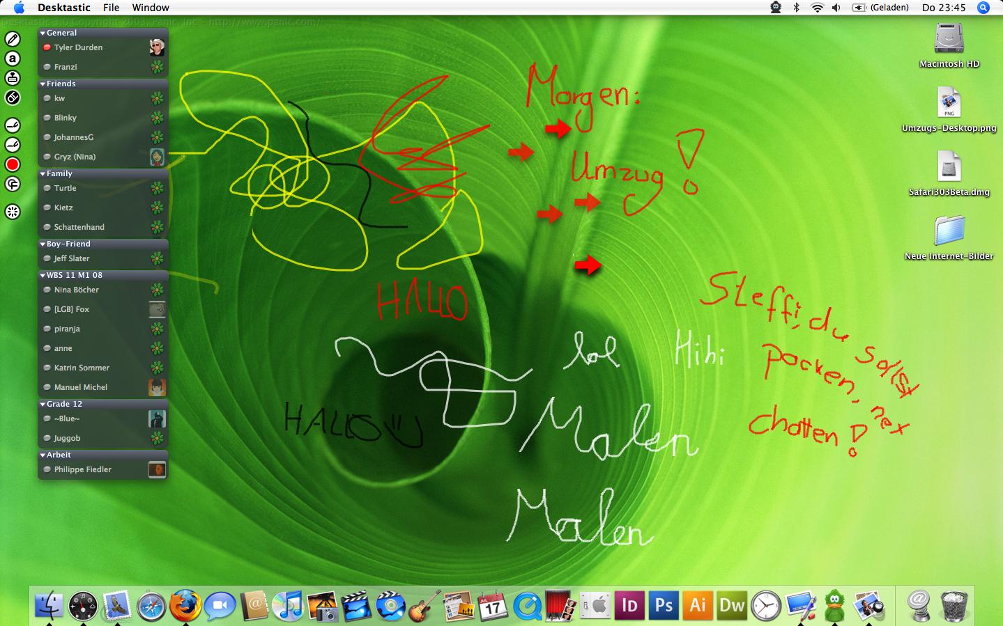Desktop: Umzug