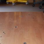 Wohnzimmer voller Federn